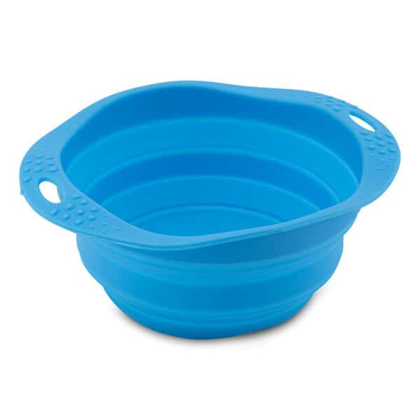 collapsible bowl blue