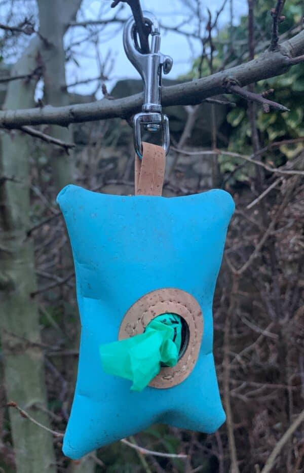 blue poo bag dispener