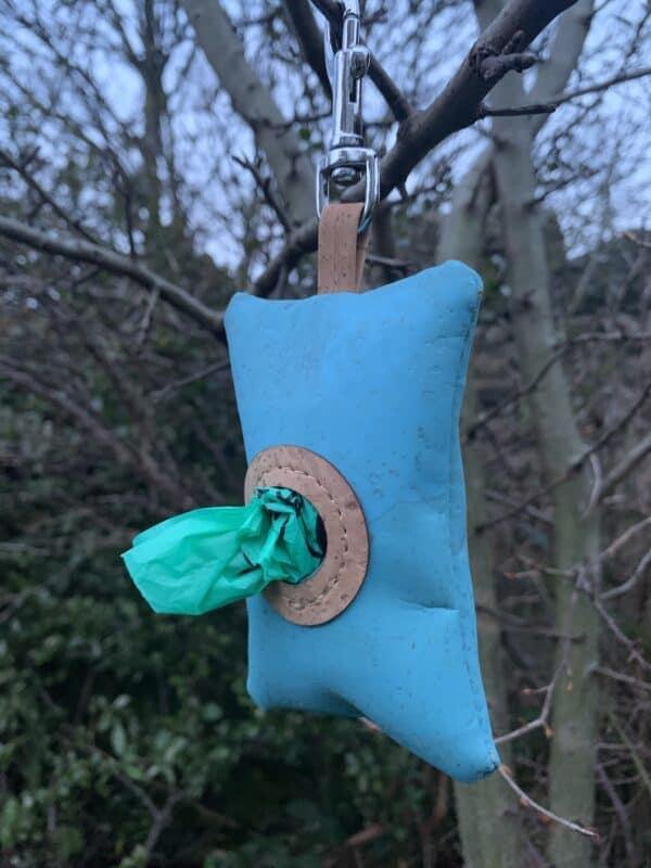 blue poo bag holder