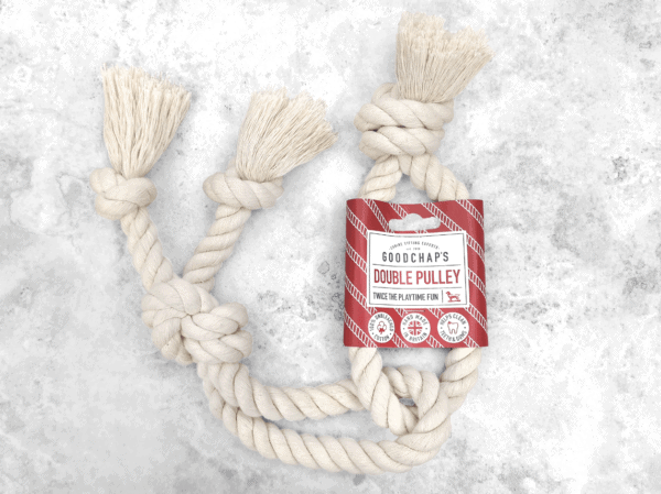 double pulley rope toy