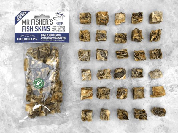 goodchaps mr fishers fish skins value pack dog treats